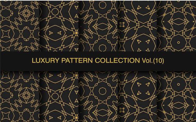 Pacote de padrão decorativo de luxo
