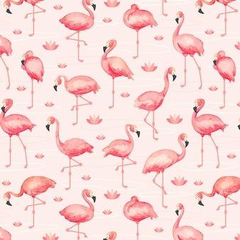 Pacote de padrão flamingo