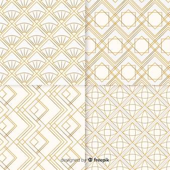 Pacote de padrão geométrico de luxo