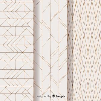Pacote de padrão geométrico leve