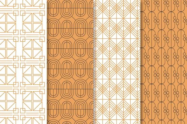 Pacote de padrão plano art déco