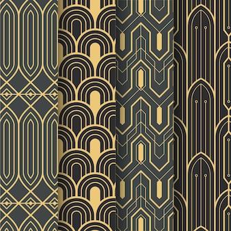 Pacote de padrões art déco