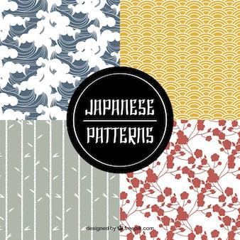 Pacote de padrões bonito japonês