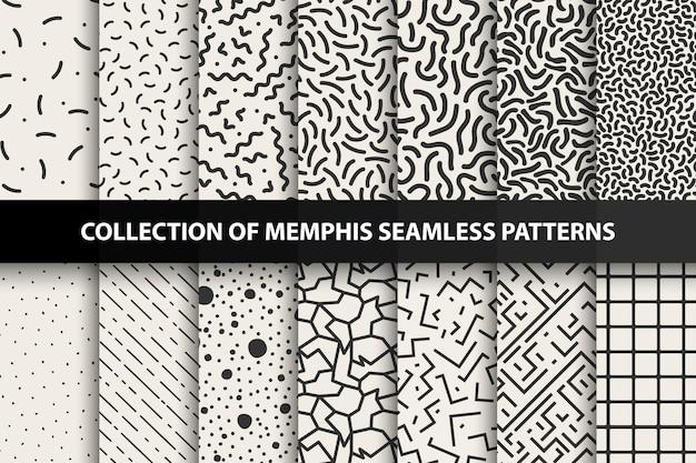 Pacote de padrões contínuos moda 8090s você pode encontrar fundos contínuos no painel de amostras