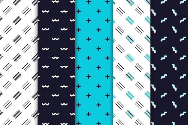 Pacote de padrões de design minimalista