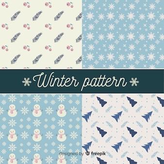 Pacote de padrões de elementos de inverno