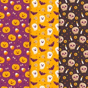 Pacote de padrões de feliz dia das bruxas