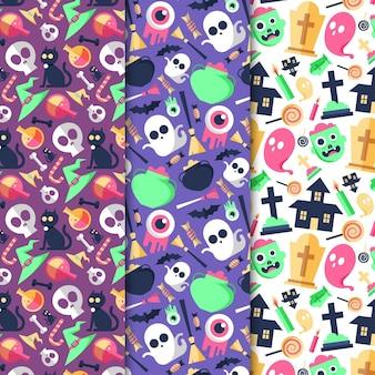 Pacote de padrões de festival de halloween