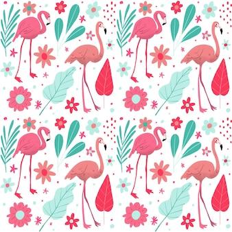 Pacote de padrões de flamingo