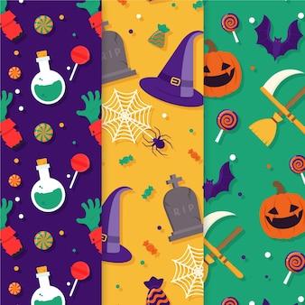 Pacote de padrões de halloween