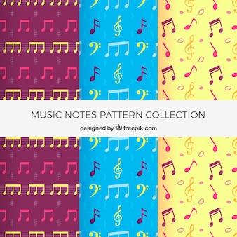 Pacote de padrões de notas musicais