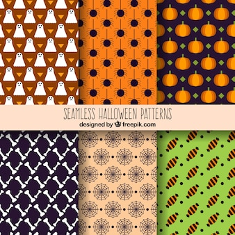 Pacote de padrões decorativos de halloween