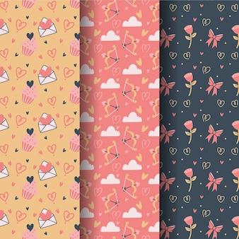 Pacote de padrões do dia dos namorados