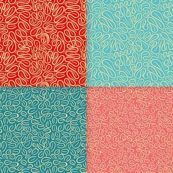 Pacote de padrões elegantes de linhas arredondadas