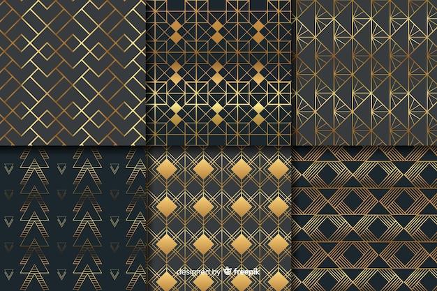 Pacote de padrões geométricos de luxo
