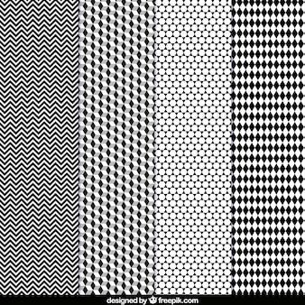 Pacote de padrões geométricos decorativos
