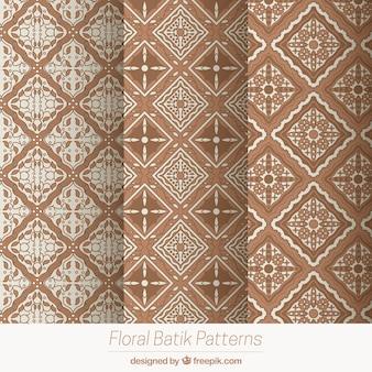 Pacote de padrões geométricos em estilo batik