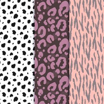 Pacote de padrões modernos de pele de animais