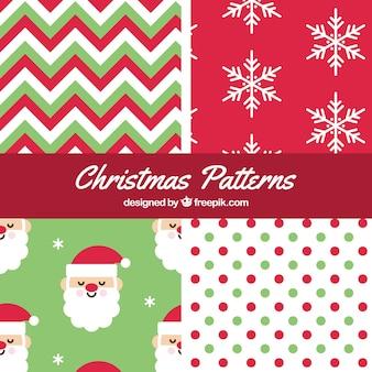 Pacote de padrões natal agradáveis
