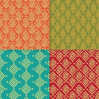 Pacote de padrões tradicionais de songket