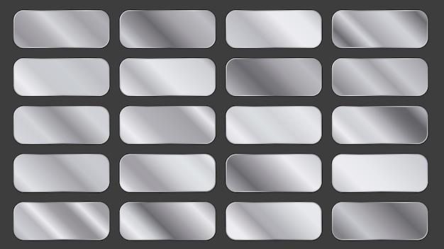 Pacote de painéis gradientes prateados