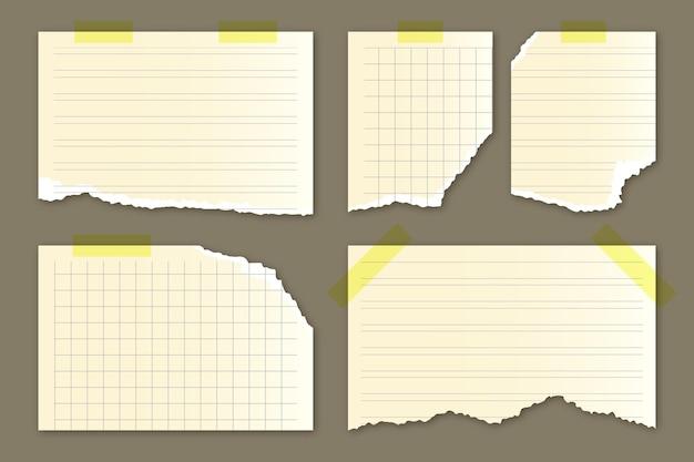 Pacote de papel rasgado realista