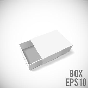 Pacote de papelão branco caixa mockup eps 10