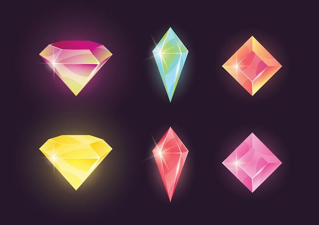 Pacote de pedras preciosas coloridas
