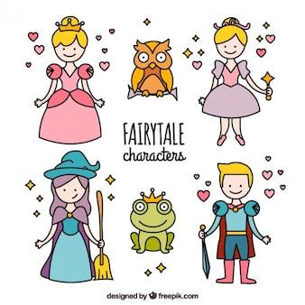 Pacote de personagens da história da princesa
