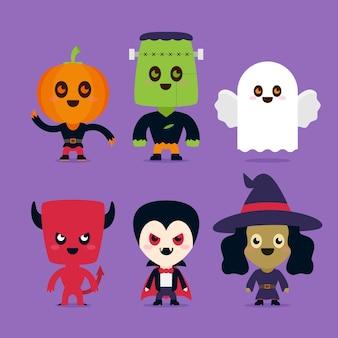 Pacote de personagens de halloween