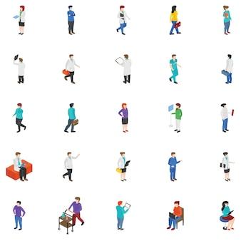 Pacote de personagens de pessoas profissionais