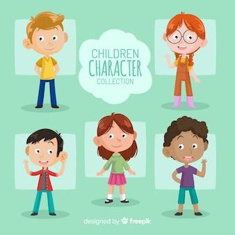 Pacote de personagens do dia das crianças