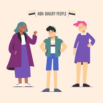 Pacote de pessoas não binárias