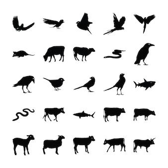 Pacote de pictogramas de animais