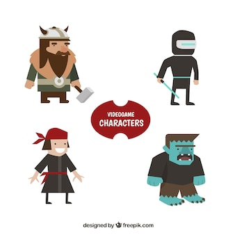 Pacote de pirata e outros personagens de videogame