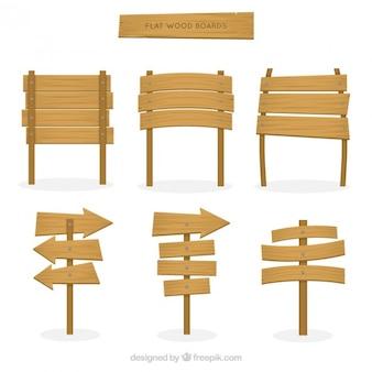 Pacote de placas de madeira planas