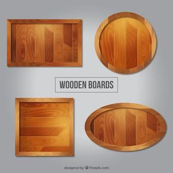 Pacote de placas de madeira