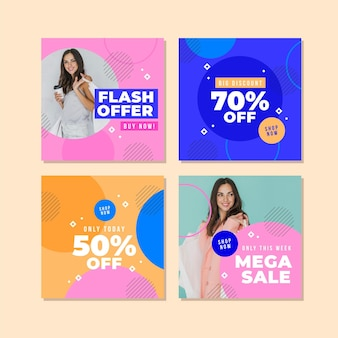 Pacote de postagens do instagram de venda