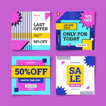 Pacote de postagens do instagram para venda plana