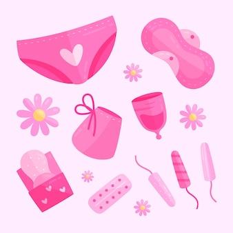Pacote de produtos de higiene feminina