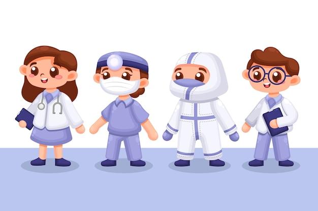Pacote de profissionais de saúde