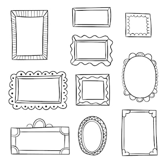 Pacote de quadros decorativos desenhados