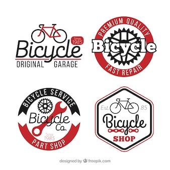 Pacote de quatro logotipos de bicicleta