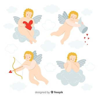 Pacote de querubins nus de dia dos namorados