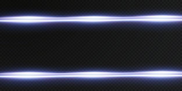 Pacote de reflexos de lente horizontal azul