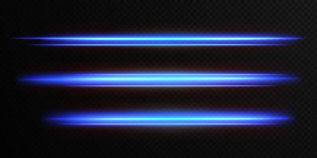 Pacote de reflexos de lente horizontal leve
