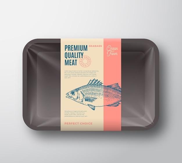 Pacote de robalo de qualidade premium.