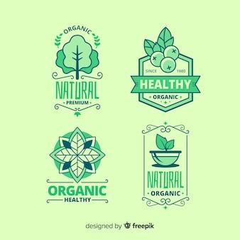 Pacote de rótulo de alimentos orgânicos