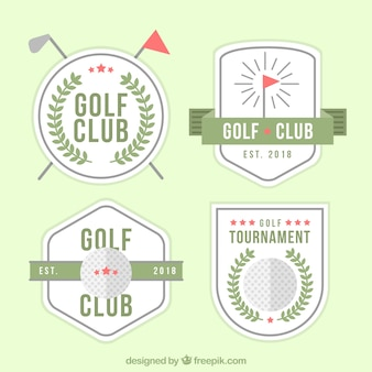 Pacote de rótulos de golfe modernos