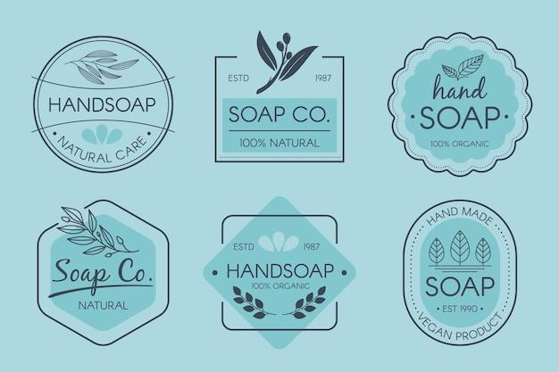 Pacote de rótulos de sabonete criativo